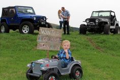 Jeep baby announcement :)