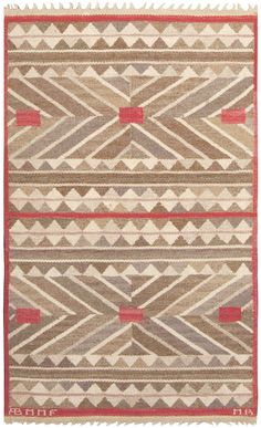 A Swedish Flat Woven carpet (Sverige matta)