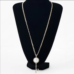 • Arriving Soon • Key Necklace - Brand New - chain length is 70cm and material is zinc alloy and faux pearl Jewelry Necklaces