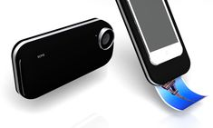 iPhone case that prints your picture out like a polaroid camera. Too cool!