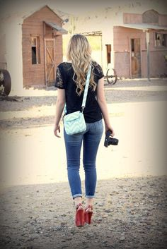 Small Chevron Small Padded Camera Bag - Perfect for Spring Break!