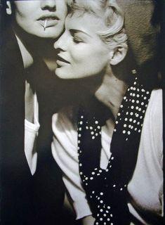 Vogue UK - Bonnie & Clyde - Linda Evangelista, Karen Mulder - May 1991. Photographed by Peter Lindbergh