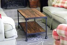diy industrial inspired coffee table, furniture furniture revivals, full view