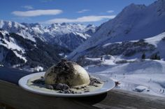 Germknödel. Can't really make this Austrian alpine delight look pretty, but it's so good