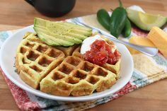 Jalapeno Cheddar Waffles - Gluten Free and Ketogenic!! Low-carb goodness