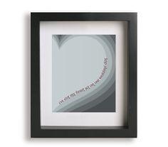 True Companion / Marc Cohn  Music Lyric Art  by LyricalArtworks, $19.95