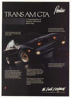 Pontiac Trans Am GTA Sports Coupe Photo (1988)