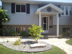 Raised Ranch Curb Appeal | Ranch House with Front Porch