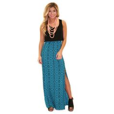 Downtown Divine Maxi in Turquoise $26