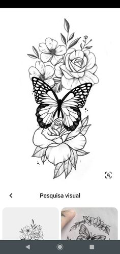 Rose Drawing Tattoo, Flower Tattoo Drawings, Flower Thigh Tattoos, Tattoo Design Drawings, Flower Tattoo Designs, Dream Tattoos, Mom Tattoos, Cute Tattoos, Body Art Tattoos