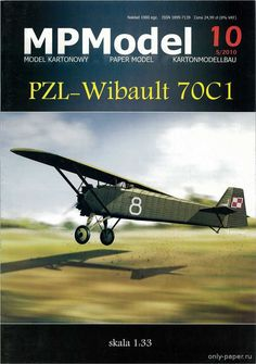 PZL-Wibault 70C1 (MPModel 2010-05), 1:33 paper model, maybe good for RC 1:16 conversion.