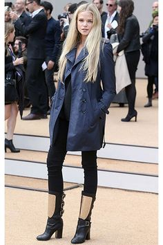 London Fashion Week Spring 2014: Parties & Front Row: Burberry Prorsum Front Row