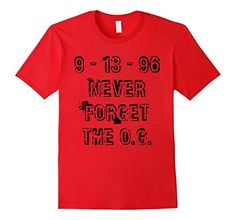 Men's 9-13-96 Never Forget The O.G. T-Shirt 2XL Red 9-13…