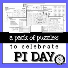 Celebrate Pi Day with puzzles that focus on the amazing value of Pi! Includes 5 different puzzles, one for each day of the week that includes March 14: It's All About the Number- Pi Sudoku, Pi Word Search, Logic with Pi (2 versions; one easy and one challenging), Solve the Circles to Find the Quote (by Einstein), & Mystery Picture- Cartesian Graph (with 100+ coordinate pairs).