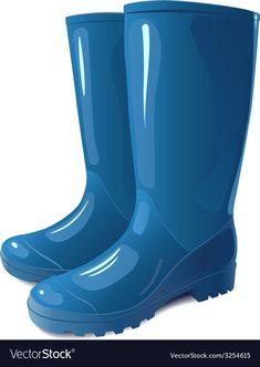 Blue rain boots vector image on VectorStock Clipart, Bunny Drawing, Teaching Manners, Preschool Education, Blue Rain, Bear Art, Everyday Objects, Adobe Illustrator, Rubber Rain Boots