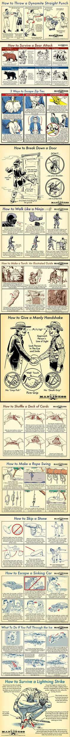 Some manly survival skills to improve your manliness