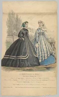 20x16 inch (51x41cm) ready to hang Box Canvas Print. Modes de Mme. Antonie Lalanne, No. 791, from Le Moniteur de la Mode, 1848. crinoline, david, david jules, fashion, hoop skirt, hooped, jules, jules david, petticoat, the metropolitan museum, walking. Image supplied by Heritage Images. Product ID:dmcs_20571597_7046_367 Victorian Women, Victorian Era, Victorian Fashion, Vintage Fashion, Victorian Costume, Mode Vintage, Vintage Ladies, Main Image, Jean Délavé