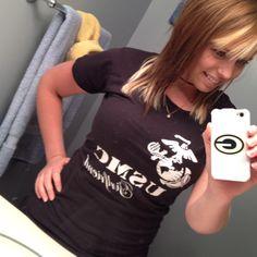 USMC girlfriend. Favorite shirt <3