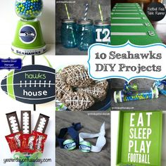 DIY seahawks projects {could be switched up to match any team}