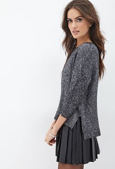Contemporary Metallic Knit Sweater