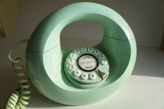 Vintage Mint Green Donut Phone! So cute, with a modern twist!