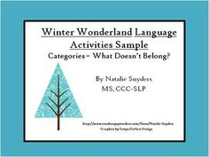 Free - Winter Wonderland Language Activities for Speech Language Therapy