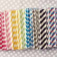 I know that these striped straws are extremely trendy right now, but I can't help it; I adore them.
