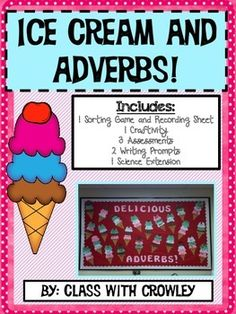 Adverbs are used to modify verbs, adjectives or other adverbs. They typically answer the question where, when or how. This pdf contains activities and games for students to better understand adverbs. 1 Sorting Game and Recording Sheet1 Craftivity3 Assessments2 Writing Prompts1 Science Extension