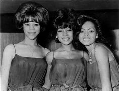 By 1964, the Primettes had grown into the Supremes and Florence Ballard, left, Mary Wilson, center and Diana Ross began to prosper.  Picture dated Nov. 1964.