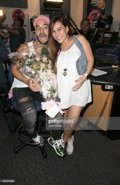 Marcela Velasquez and Maluma visit SBS Broadcast Center and La Musica on February 9, 2017 in Miami, Florida.