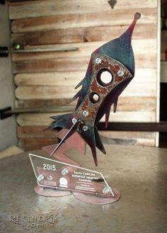 Retro-Rocket-Ship Custom Trophies for the Aerospace Industry www.refinerii.net
