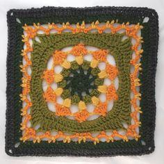 Ravelry: Kalevala CAL - Tapio pattern by Milla Elo Crochet Blocks, Granny Square Crochet Pattern, Crochet Squares, Crochet Granny, Crochet Patterns, Love Crochet, Knit Crochet, Granny Square Häkelanleitung, Granny Squares