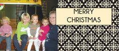 Elegant Black & Ivory Photo Holiday Card
