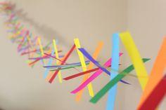 Confetti Paper Garland - Party Garland - Birthdays - Celebrations - Rainbow Garland. $8.00, via Etsy.