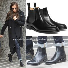 Victoria Beckham Style: March 2013 Loving the Chelsea boots and jeans look