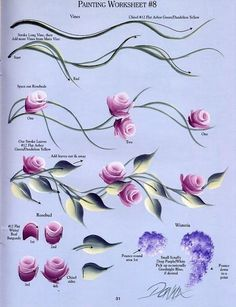 Тренировочные карты для росписи ногтей (31)
