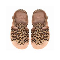 Leopard print leather sandal - Shoes - Baby girl - Kids - ZARA United States