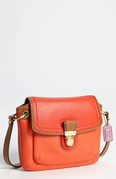 COACH 'Poppy Colorblock' Leather Crossbody Bag available at #Nordstrom... different colour