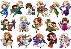 Chibi Anime Gallery: Nyotalia Chibi Nyotalia Hetalia Nekotalia