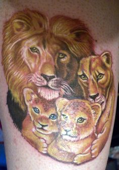 lion family tattoo | tattoo designs for men,tattoo designs,tattoo ...