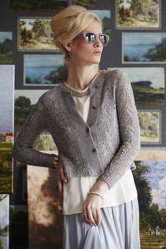 Ravelry: #01 Cropped Cardigan pattern by Lisa Hoffman