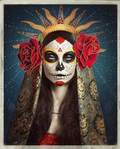 Sugar Skull art by Julia Kuzmenko