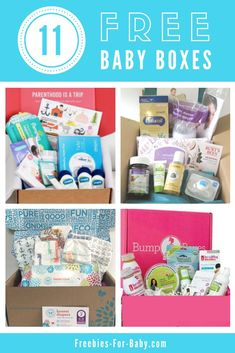 8 Free Baby Boxes + 3 Bump Boxes - 11 free baby boxes filled with free samples, coupons, + full-size baby products. Get your free sample boxes at Freebies-For-Baby. 11 Free Baby Boxes + Bump Boxes for New Moms Free Mama Baby, Mom And Baby, First Baby, Pregnancy Freebies, Baby Freebies, Pregnancy Info, Pregnancy Bump, Free Pregnancy Stuff, Surprise Pregnancy
