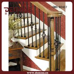 Wrought Iron balusters with carpeted stairs Wrought Iron Staircase, Wrought Iron Stair Railing, Iron Balusters, Staircase Railings, Staircases, Banisters, Indoor Stair Railing, Stairs In Living Room, House Stairs