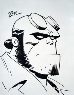 drawings - Bruce Timm's drawings of characters from DC, Star Wars, Hellboy, and Marvel Bruce Timm, Comic Book Artists, Comic Artist, Disney Drawings, Art Drawings, Star Wars Desenho, Hellboy Tattoo, Conceptual Drawing, Digital Painting Tutorials