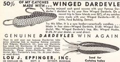 Classic 1930s Eppinger Dardevle advertisement.