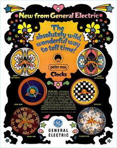 Peter Max Clocks, 1968 by MewDeep, via Flickr