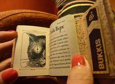 """El gato negro y otros cuentos - Edgar Allan Poe / Minilibros Artesanales / Bukkis Nº5 / Colección """"Cuentamente"""""""