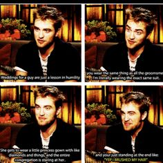 I'm not a huge Twilight fan, but this is actually funny. Not because the sparkly guy said it, but because this so true!<<<Robert actually hates Twilight more than anyone. Twilight Jokes, Twilight Cast, Twilight Saga Quotes, Mardi Gras Party, Robert Pattinson, Funny Memes, Hilarious, Funny Quotes, Movie Memes