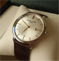 Proudly announced: Frederique Constant Slim Line Automatic, Exclusive for Watchuseek Elegant Watches, Stylish Watches, Beautiful Watches, Cool Watches, Rolex Watches, Best Watches For Men, Luxury Watches For Men, Antique Watches, Vintage Watches